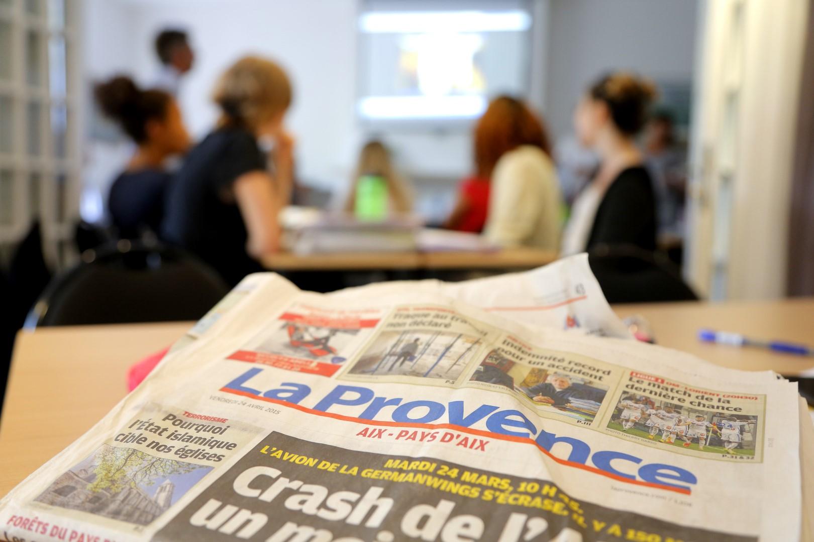 apprendre le français avec des exercices venant de journaux