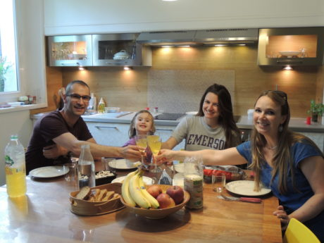 breakfast with french host family