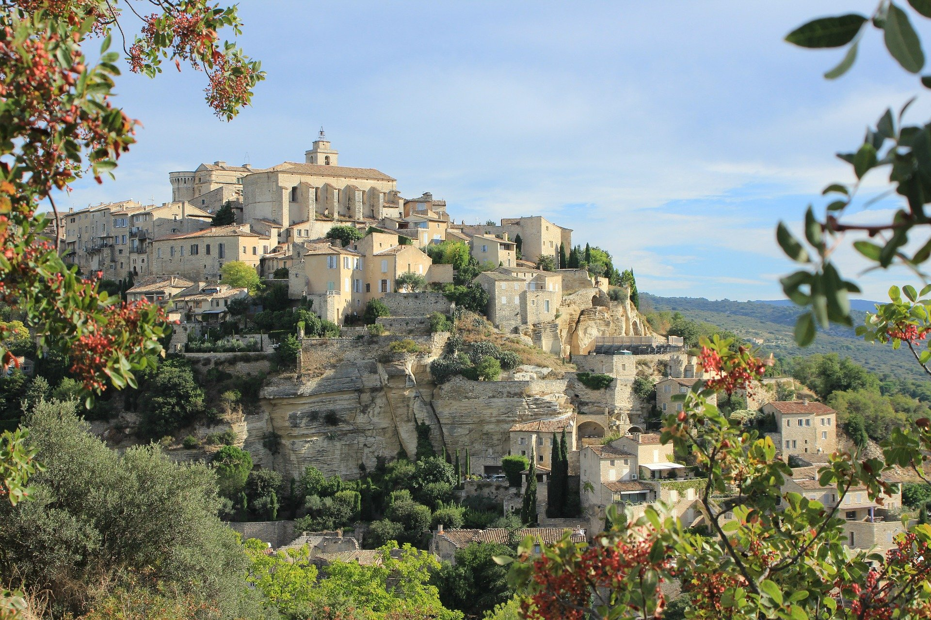 Perched village of Gordes in the luberon